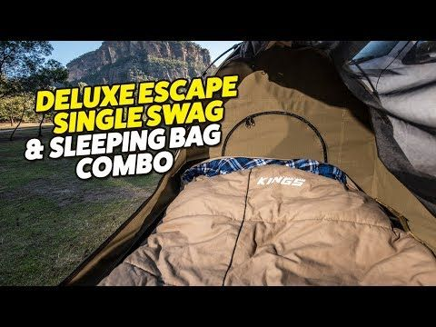 Deluxe Escape Single Swag & Sleeping Bag Combo