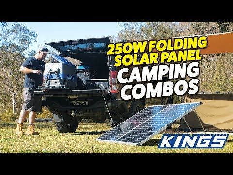 250W Portable Solar Panel Camping Combos
