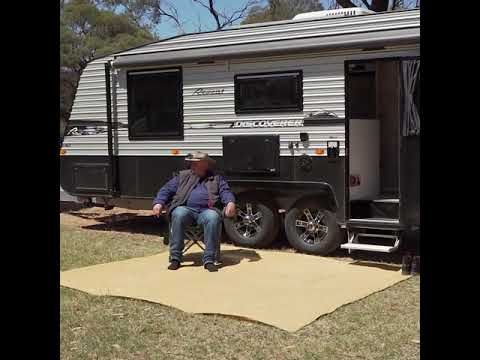 The Adventure Kings Mesh Flooring, helps keep your campsite clean