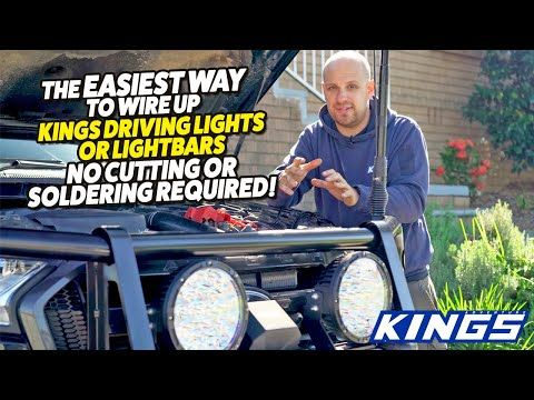 """Kings 9"""" Lethal Driving Lights Install Guide"""
