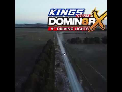 "The Adventure Kings OSRAM Domin8r X 9"" Driving Lights are built insanely tough!"