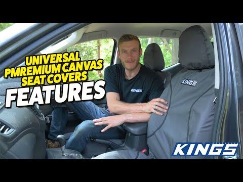 Adventure Kings Universal Premium Canvas Seat Covers Features