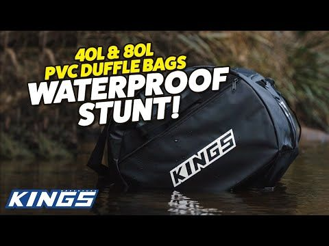5 days' worth of gear in a bag + a river – what could go wrong? Kings Duffle Bag Waterproof Test