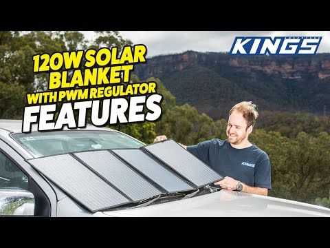 120w Solar Blanket with PWM Regulator Features