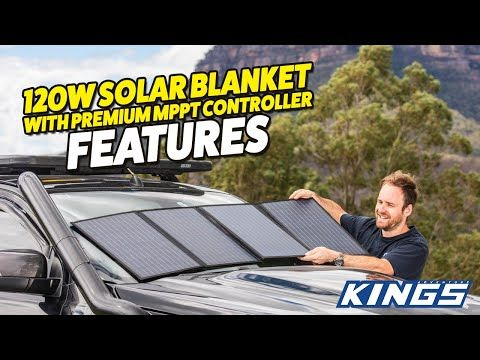 Adventure Kings 120W Solar Blanket Kit with MPPT